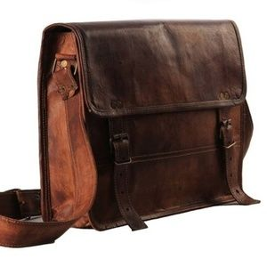 Other - Leather Simple Laptop Bag
